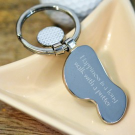 Personalised Golf Course Keyring