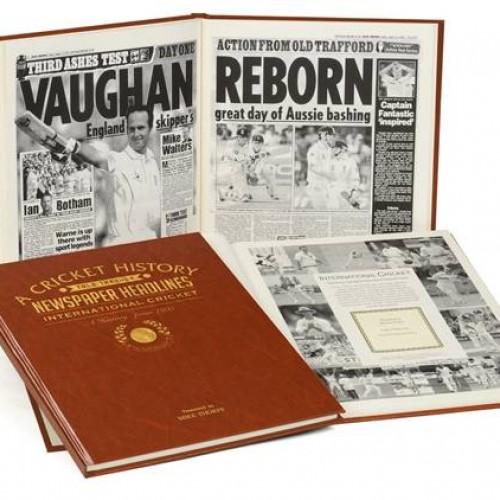 Personalised International Cricket History Book