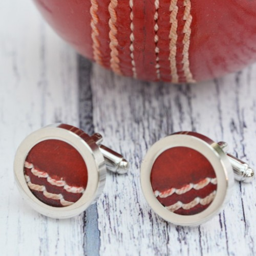 Genuine Cricket Ball Cufflinks
