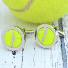Genuine Tennis Ball Cufflinks