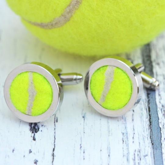 Genuine Tennis Ball Cufflinks