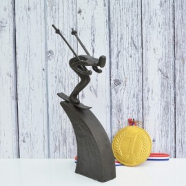 Downhill Skier Sculpture