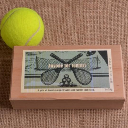 Set of 2 Tennis Racquet Soaps