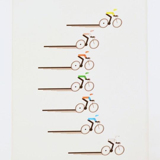 Racing Cyclists Unframed Print
