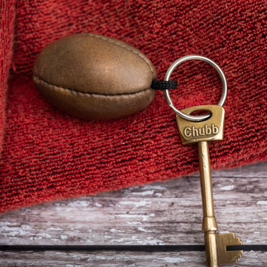 Vintage Rugby Ball Keyring