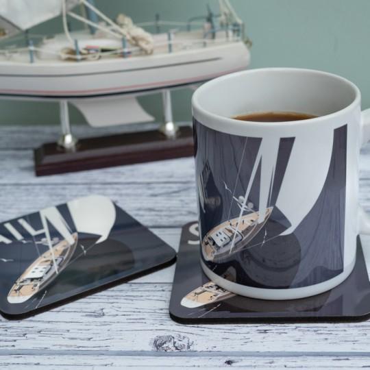 Sailing Mug and Coaster