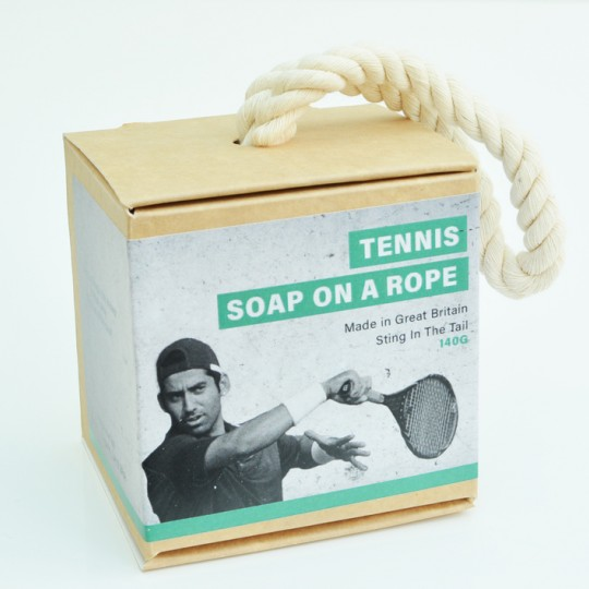 Tennis Ball Soap on a Rope