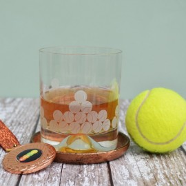 Etched Glass Tennis Tumbler