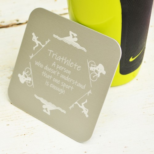 Personalised Triathlon Coaster