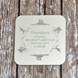 Personalised Triathlon Coaster