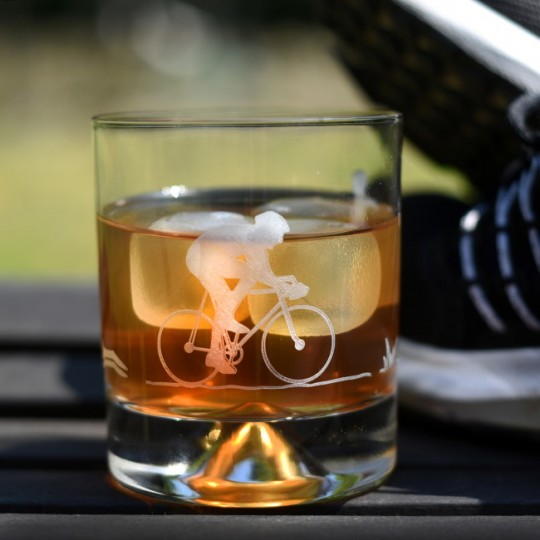 Etched Glass Triathlon Tumbler