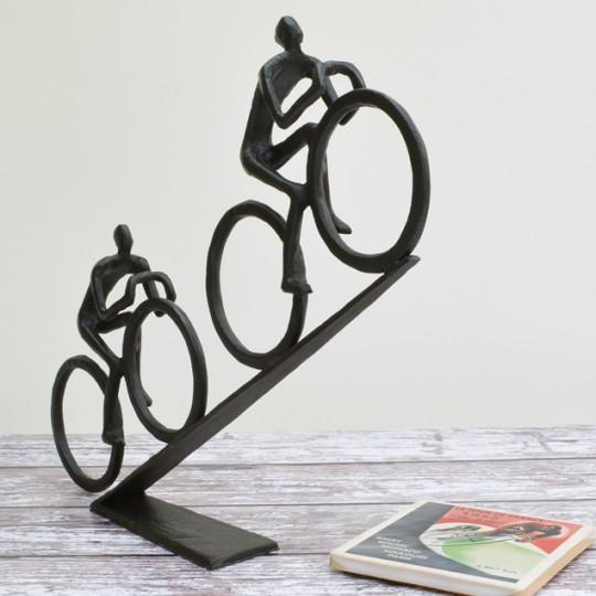 Hill Cyclists Sculpture