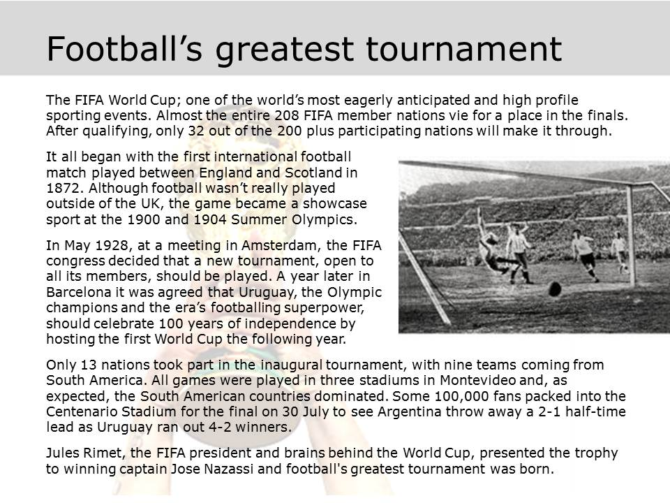 Football's Greatest Tournament